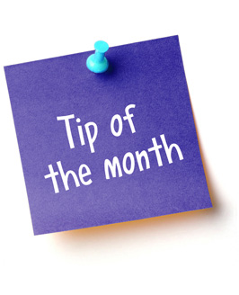 Tip of the month (3)